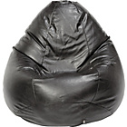 more details on Leather Effect Pear Beanbag - Black.