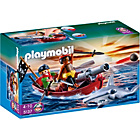 more details on Playmobil 5137 Pirate Rowboat with Shark.