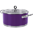 more details on Morphy Richards Accents 24cm Casserole Dish - Plum..