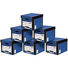 more details on Fellowes Premium Tall Document Storage Boxes 10 pack - Blue.