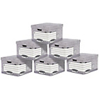 more details on Fellowes System Large Document Storage Boxes 10 pack - Grey.