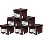 more details on Fellowes Premium Tall Document Storage Boxes 10 pk Woodgrain