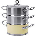 more details on Morphy Richards Accents 18cm 3-Tier Steamer - Cream.