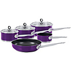 more details on Morphy Richards Accents 5 Piece Pan Set - Purple.