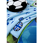 more details on Football Throw - 127cm x 143cm - Blue.