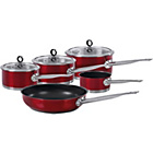 more details on Morphy Richards Accents 5 Piece Pan Set - Red.