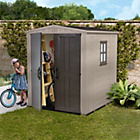 more details on Keter Apex Plastic Garden Shed 6 x 6ft.