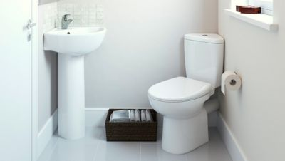 buy eliana ferne wc unit oak with toilet and seat at argos. Black Bedroom Furniture Sets. Home Design Ideas