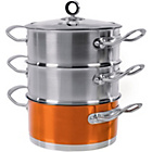 more details on Morphy Richards Accents 18cm 3-Tier Steamer - Copper.