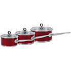 more details on Morphy Richards Accents 3 Piece Pan Set - Red.