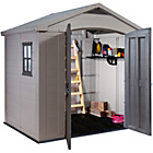 more details on Keter Apex Plastic Garden Shed 8 x 6ft.
