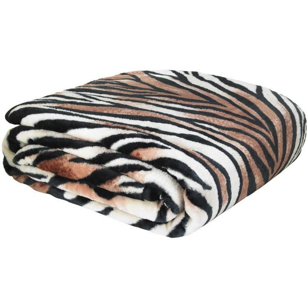 Buy Catherine Lansfield Raschel Tiger Print Throw At Argos