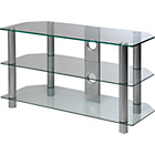 more details on Clear Glass 42 Inch Rectangular TV Stand.
