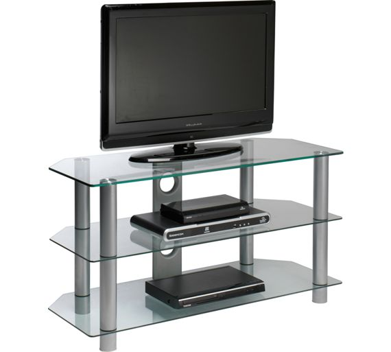 Buy Clear Glass 42 Inch Rectangular Tv Stand At Argos Co