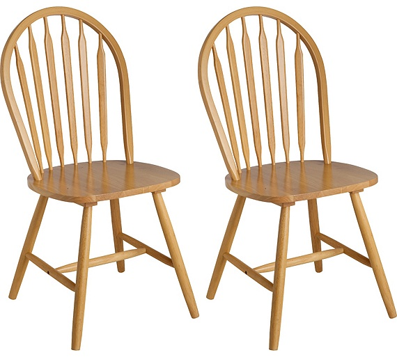 Buy collection kentucky pair of solid wood dining chairs for Natural wood dining chairs