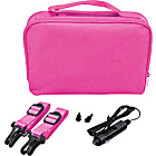 more details on 10 Inch Gadget Bag with Car Charger - Pink.