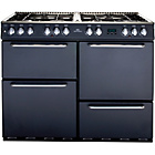 more details on New World NW100DFT Dual Fuel Range Cooker - Charcoal