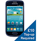 more details on Vodafone Samsung Galaxy S3 Mini Mobile Phone - Blue.