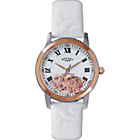 more details on Rotary Ladies' White Leather Strap Watch.