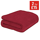 more details on ColourMatch Supersoft Throw - 170x130cm - Poppy Red.