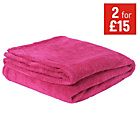 more details on ColourMatch Supersoft Throw - 170x130cm - Funky Fuchsia.