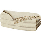 more details on HOME Diamond Cotton Throw - Natural.