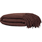 more details on Living Diamond Large Cotton Throw - 249x198cm - Chocolate.