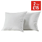 more details on Collection Pack of 2 Duck Feather Cushion Pads-43x43cm-White