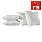 more details on HOME Pack of 4 Cushion Pads - 43 x 43cm - White.