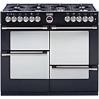 more details on Stoves Sterling R1000DFT Dual Fuel Range Cooker - Black