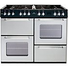 more details on New World NW100DFT Dual Fuel Range Cooker - Silver