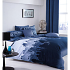 more details on City Scape King Size Duvet Set - Blue.