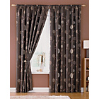 Choc Rosemont Lined Curtains with Tie Backs - 229x229cm