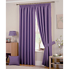 more details on Hudson Lined Curtains - 229 x 229cm - Heather.