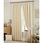 more details on Hudson Lined Curtains - 168 x 183cm - Natural.