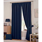 more details on Hudson Lined Curtains - 168x183cm - Navy.