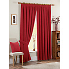 more details on Chenille Spot Thermal Backed Curtain - 117x183cm - Red.