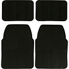 more details on Streetwize Set of 4 Premium Rubber Car Mats - Black.