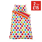 more details on ColourMatch Spot and Stripe Children's Bedding Set - Single.