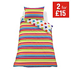 more details on ColourMatch Star and Stripe Children's Bedding Set - Single.