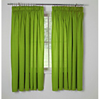 more details on ColourMatch Kids' Unlined Apple Green Curtains - 168 x 137cm