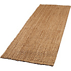 more details on Boucle Jute Floor Runner Rug 200x60cm - Natural.
