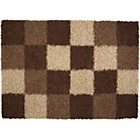 more details on Norvik Shaggy Blocks Rug 190x133cm - Chocolate.
