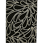 more details on Jewel Rug 160x115cm - Black and Cream.