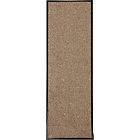 more details on Living Washable Cotton Floor Runner Rug - 180x60cm -  Beige.
