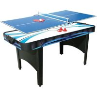 Mightymast Typhoon 2 in 1 Air Hockey and Tennis Table (Black)