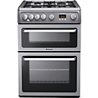 more details on Hotpoint HAG60G Double Gas Cooker - Grey.