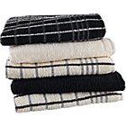 more details on Pack of 5 Terry Tea Towels - Black/Natural.
