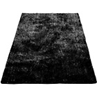 more details on Perky Brush Silk Touch Shaggy Rug - Black - 160 x 230cm.