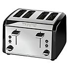 Waring 4 Slice Stainless Steel Toaster - Black